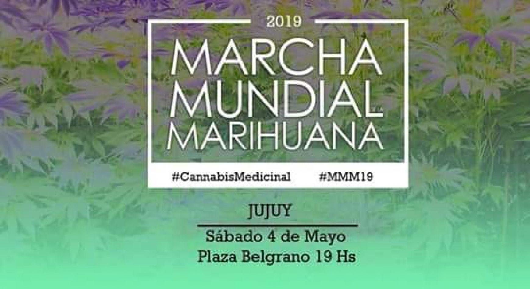 Convocan en Jujuy a la Marcha Mundial de la Marihuana, desde las 19 en Plaza Belgrano