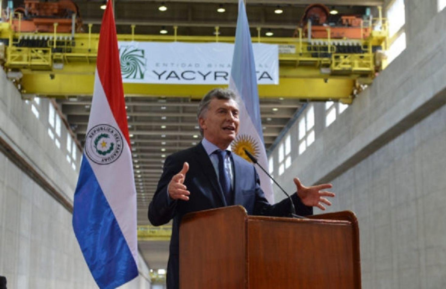 Macri en Yacyretá