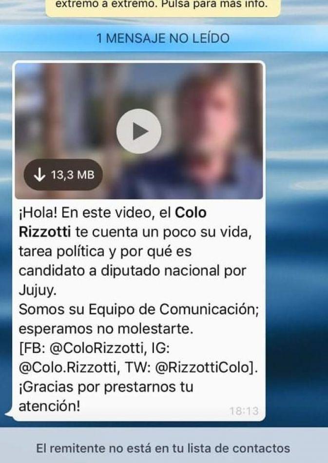 "Te llegó un WhatsApp de ""El Colo"""
