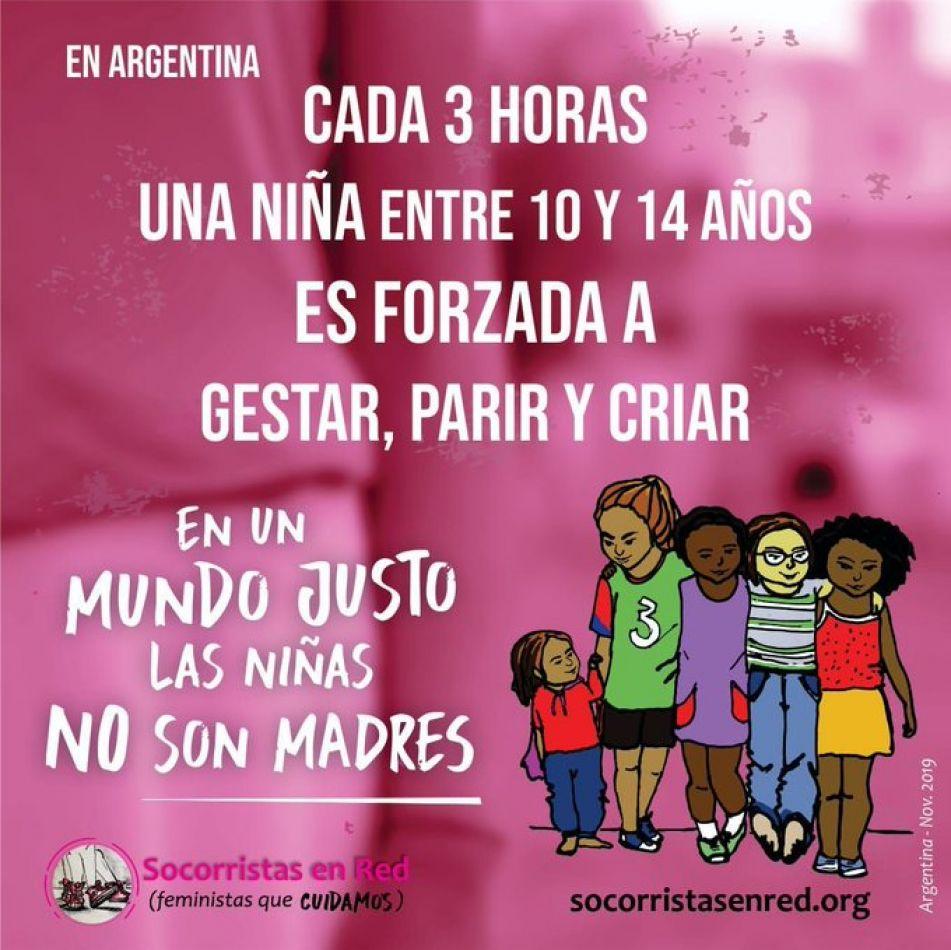 """Campaña """"En un mundo justo las niñas no son madres"""""""