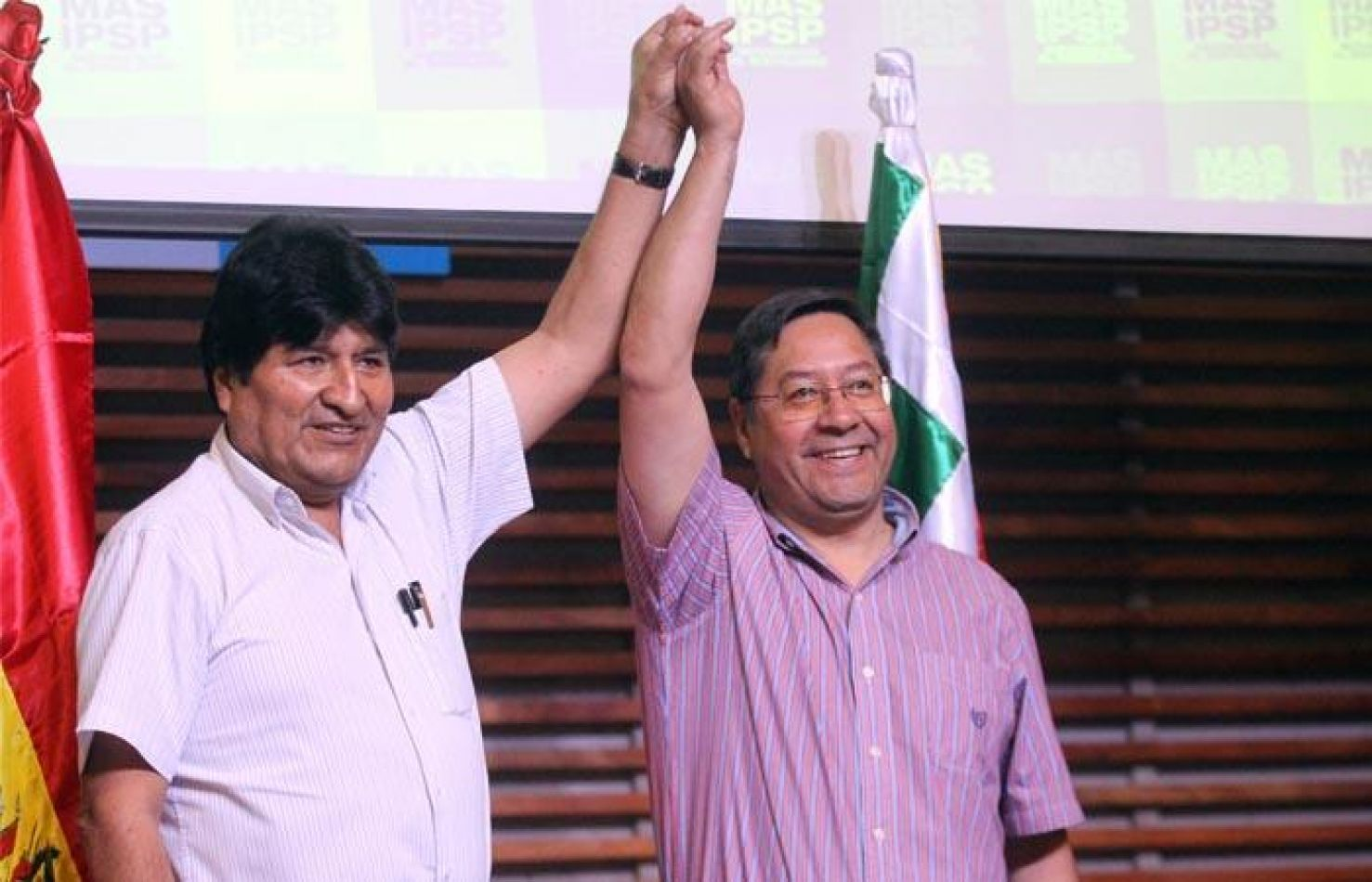 Foto: Bolivia.com. Evo Morales junto a Luis Arce