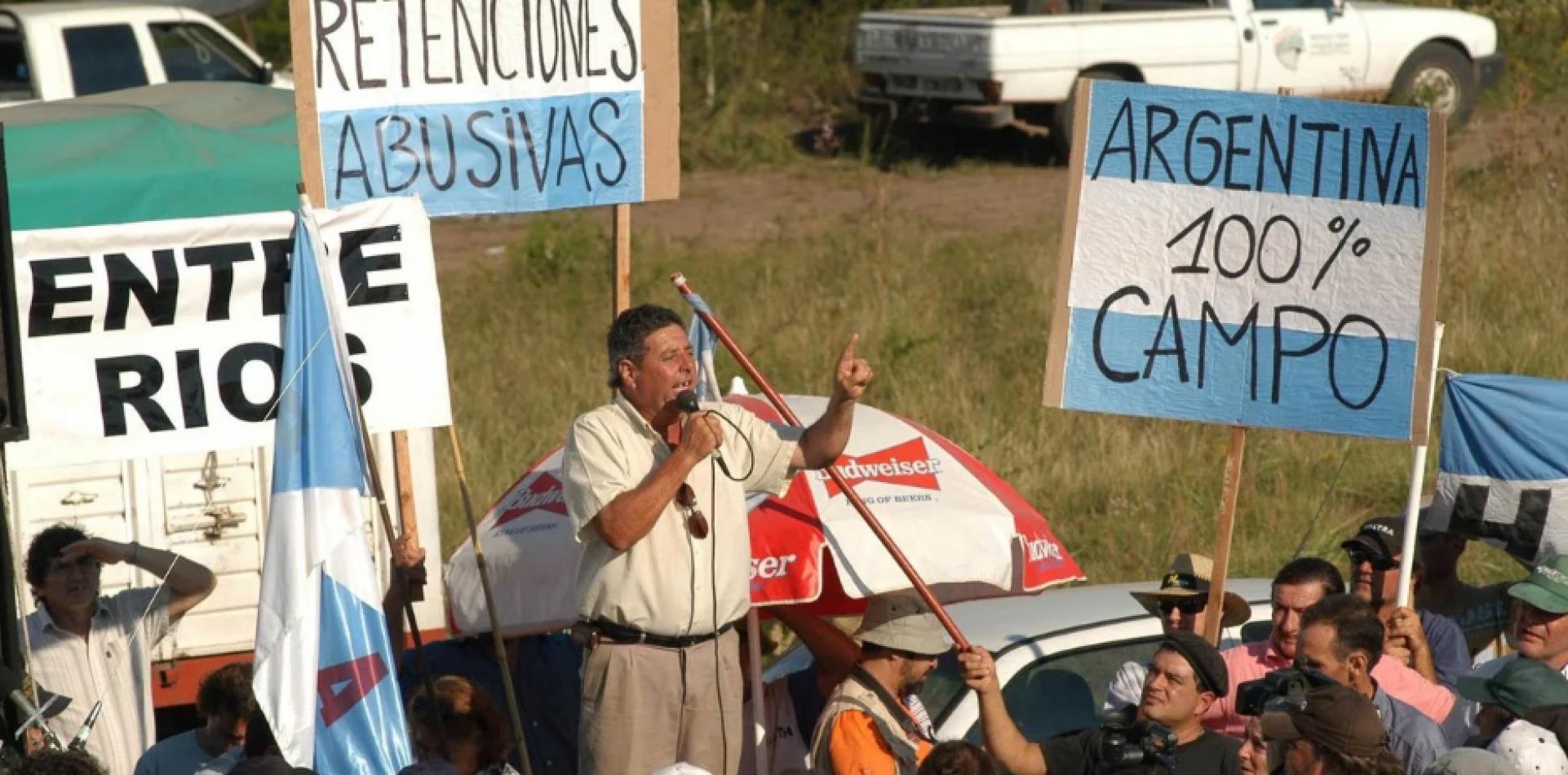 Foto: Clarín: paro del campo 2008