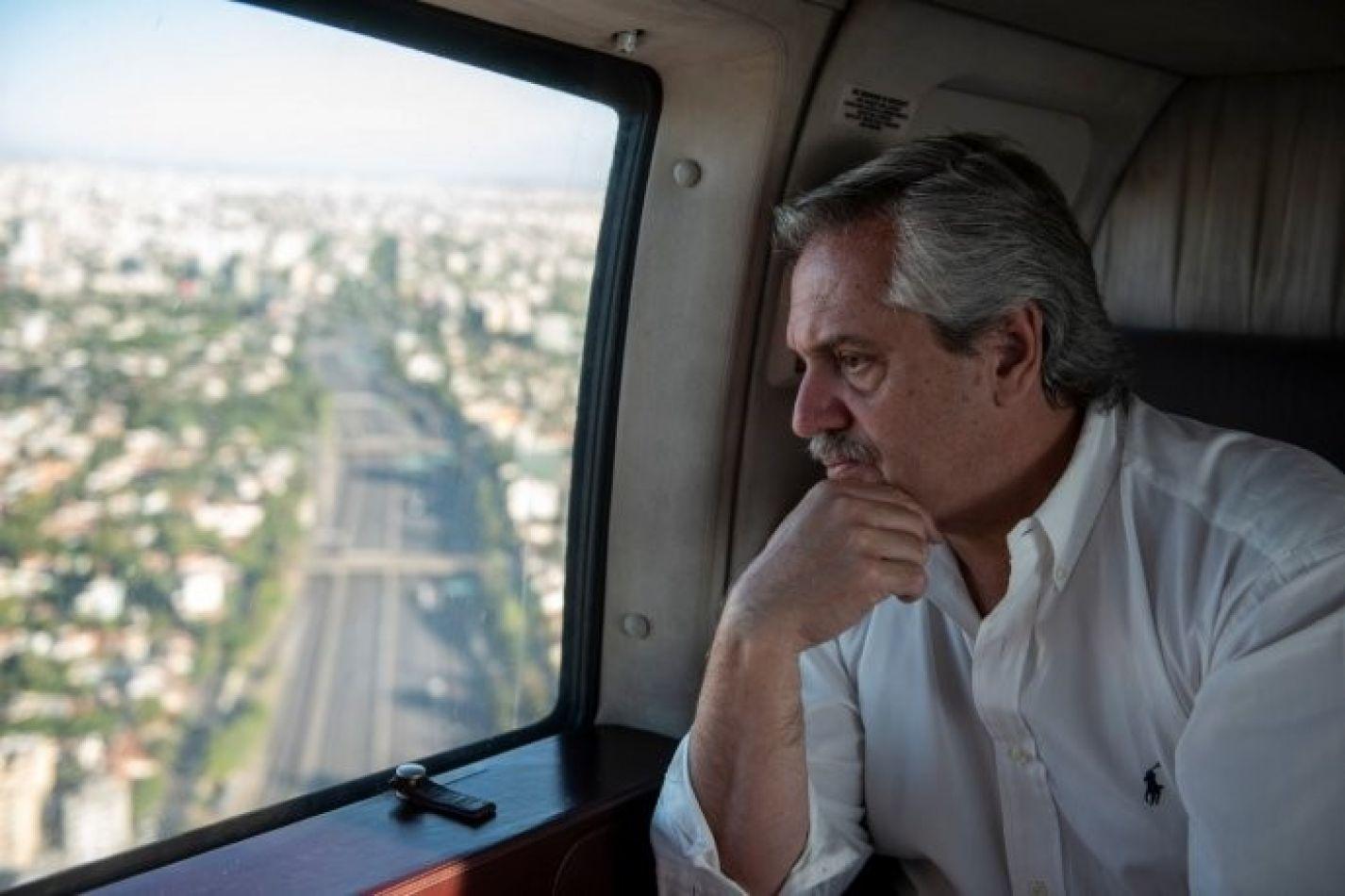 Alberto Fernández descartó el estado de sitio y afirmó que es una posibilidad extender la cuarentena