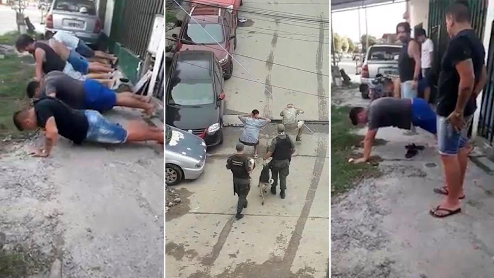 """Separaron a gendarmes y policías que """"bailaron"""" a jóvenes por violar la cuarentena"""