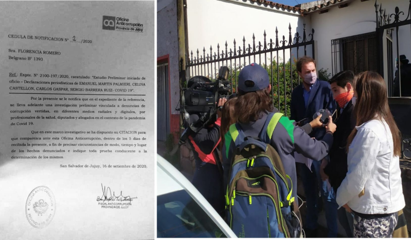 Foto: el diputado Palmieri en la Oficina Anticorrupción