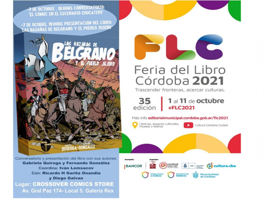 Presentarán en Córdoba una novela gráfica sobre las hazañas de Belgrano y el pueblo jujeño